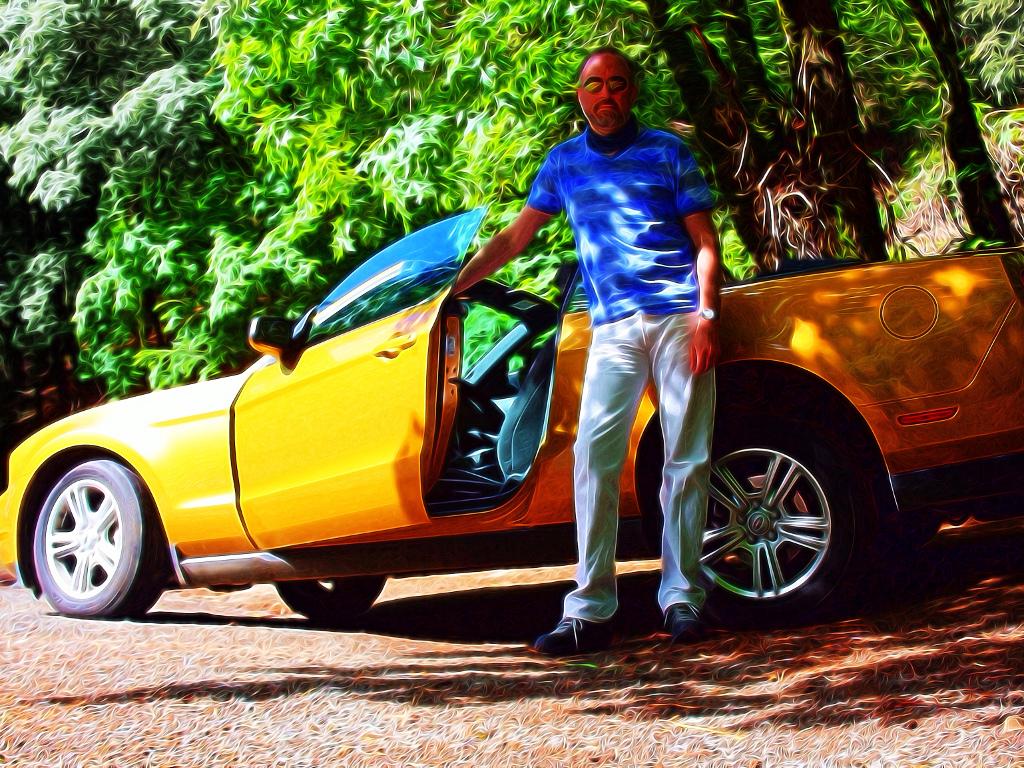 Mustang hire car
