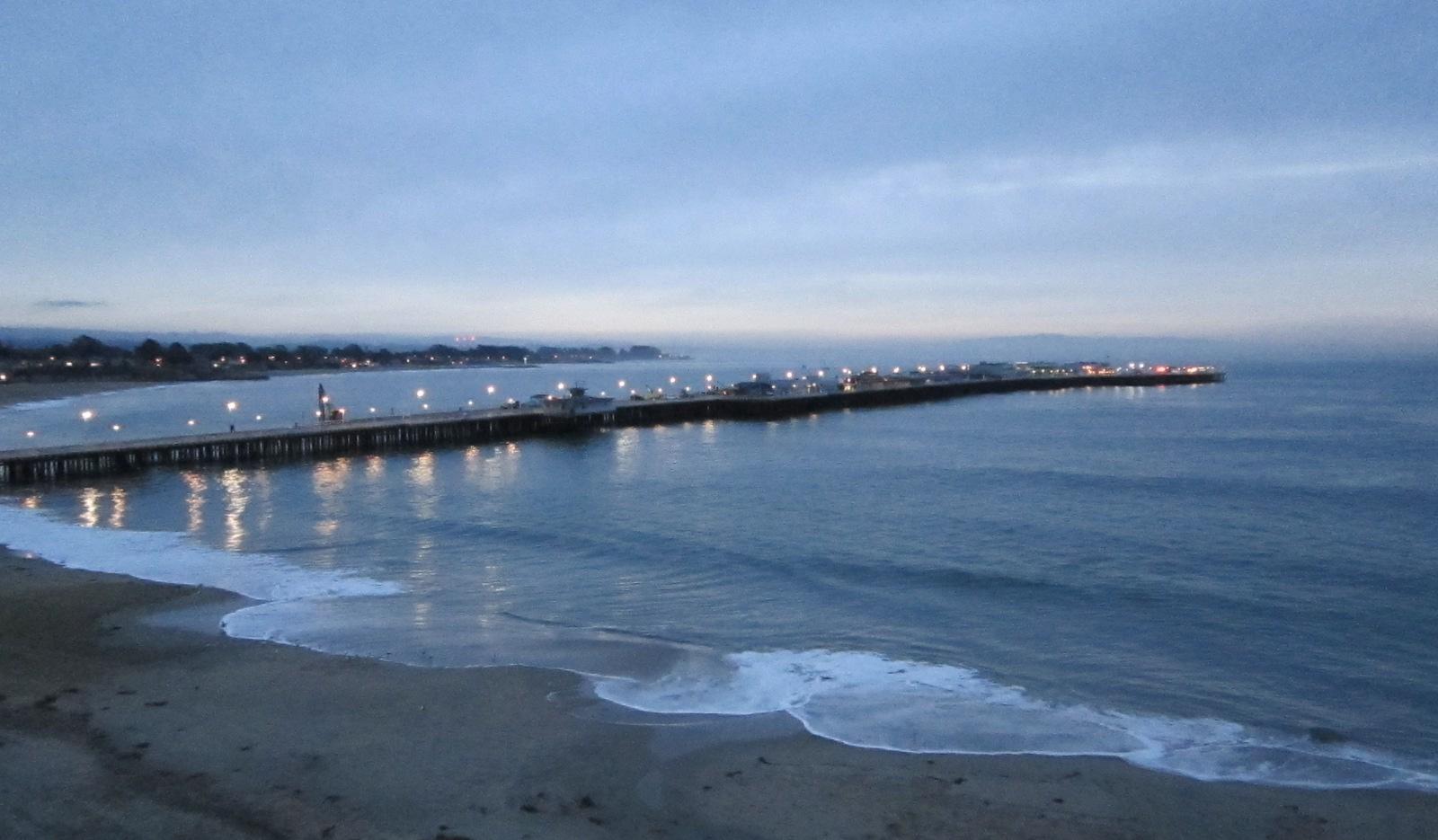 the wharf just before dawn